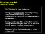 strategy as art the military analogy
