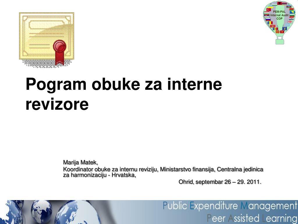 pogram obuke za interne revizore l.