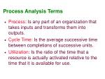 process analysis terms