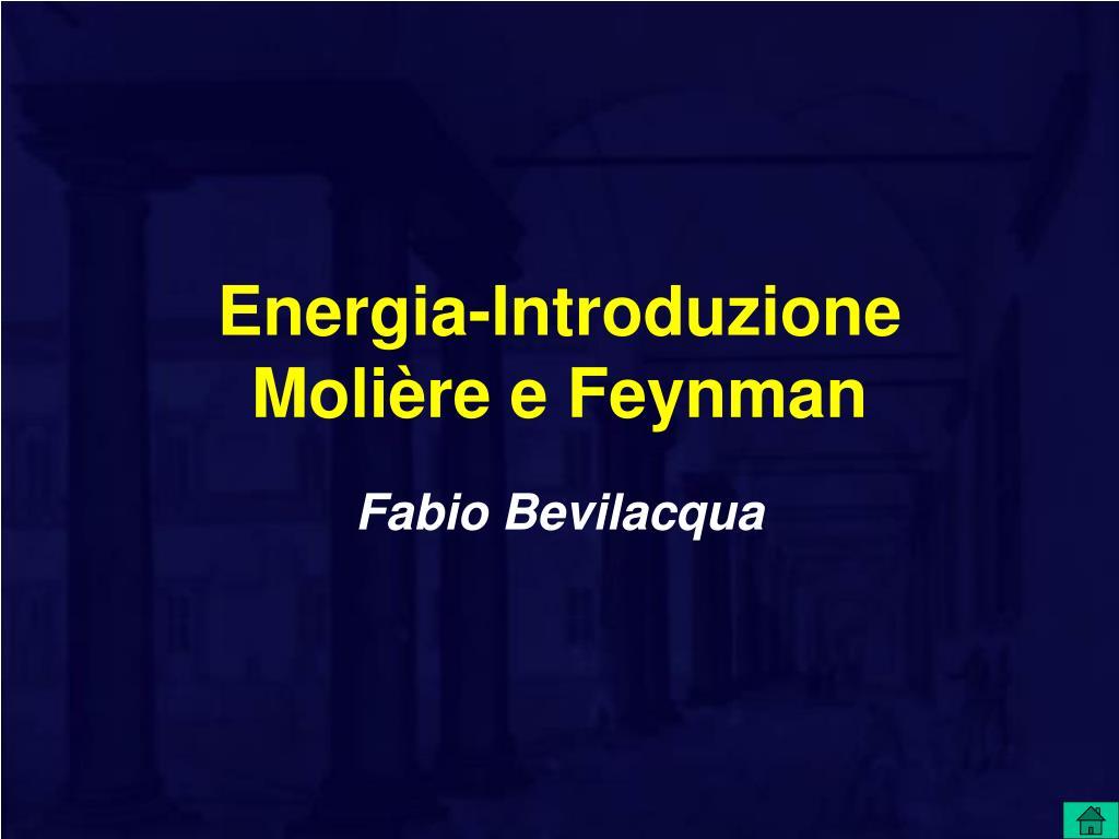 energia introduzione moli re e feynman l.