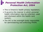 personal health information protection act 2004