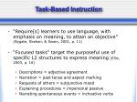 task based instruction