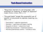 task based instruction