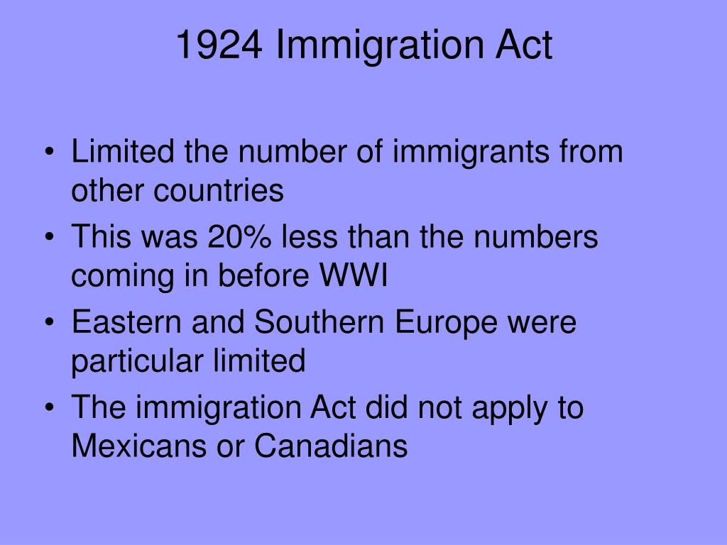1924 Immigration Act