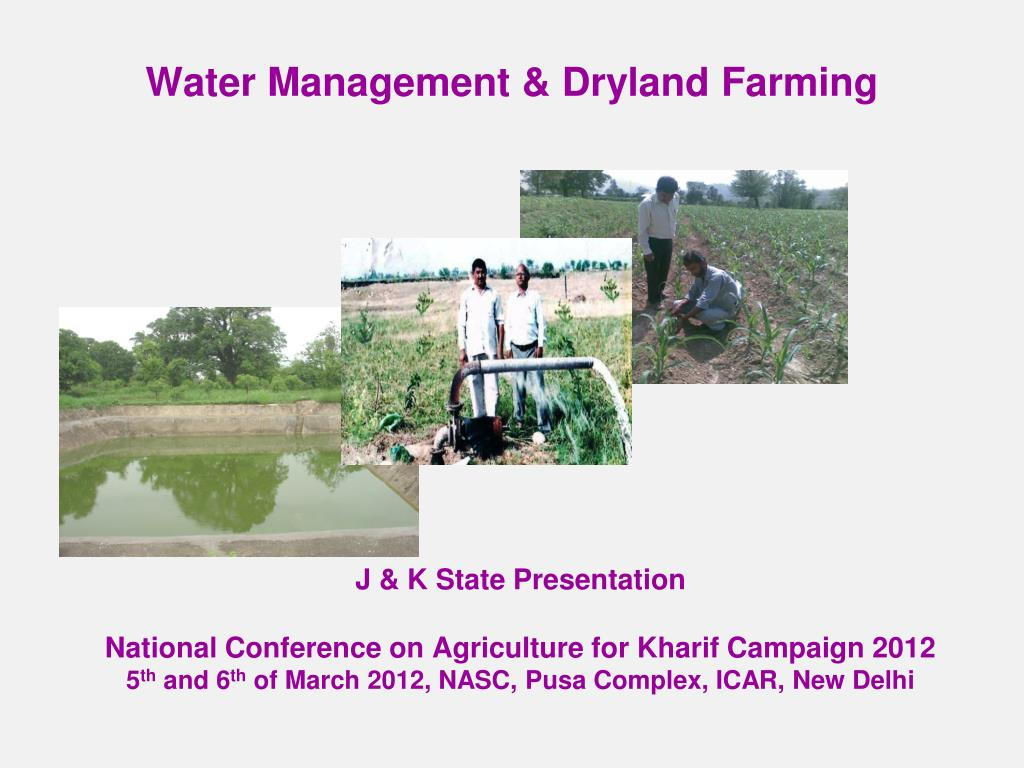 water management dryland farming l.