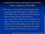 scottish aortic stenosis and lipid lowering trial impact on regression saltire