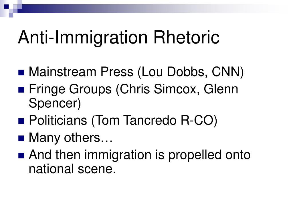 Anti-Immigration Rhetoric