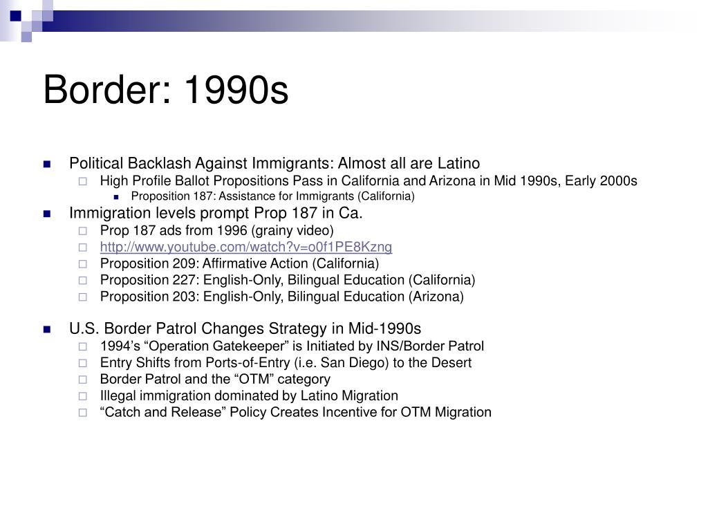 Border: 1990s