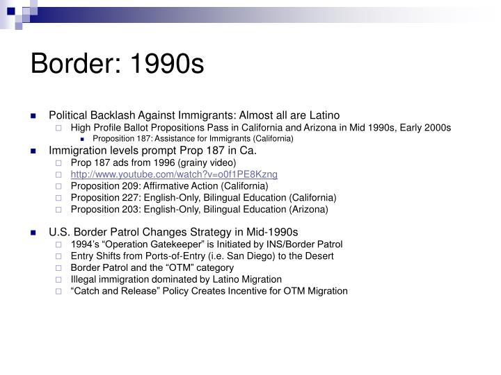 Border 1990s