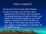 adult leaders
