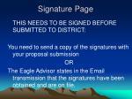 signature page