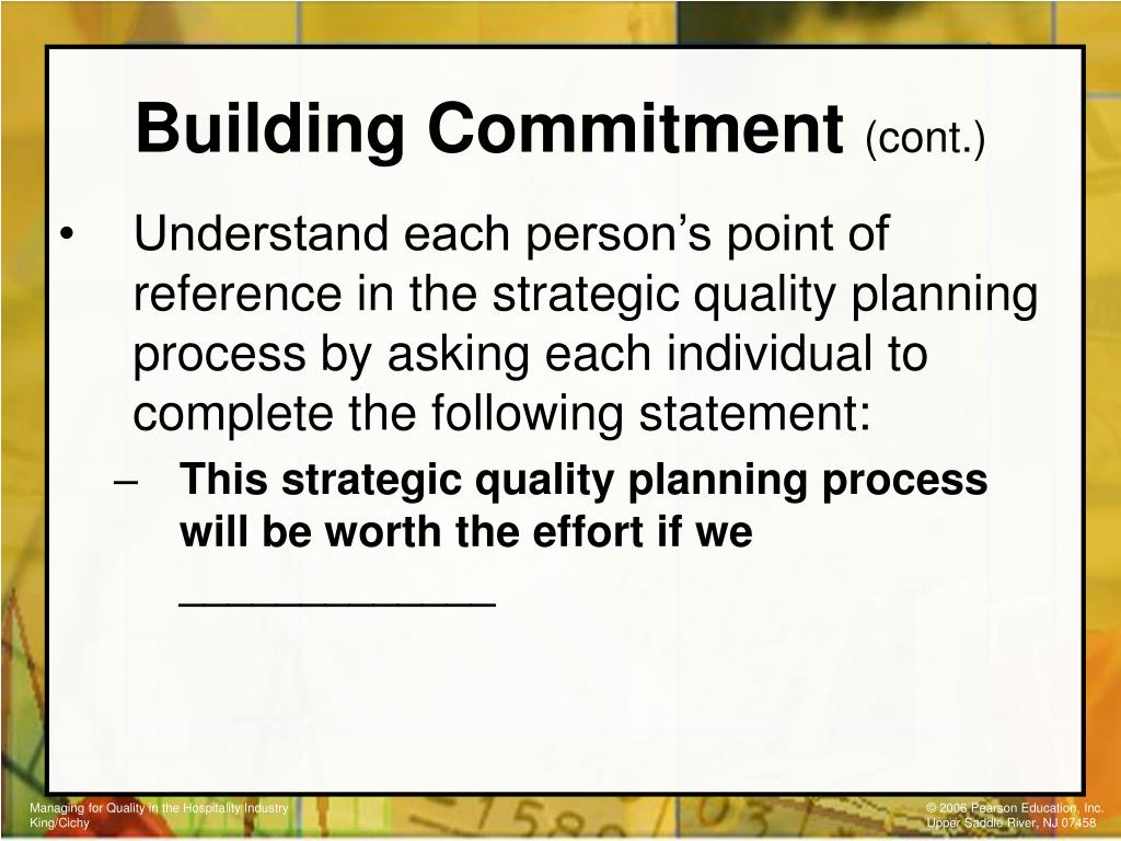 Building Commitment