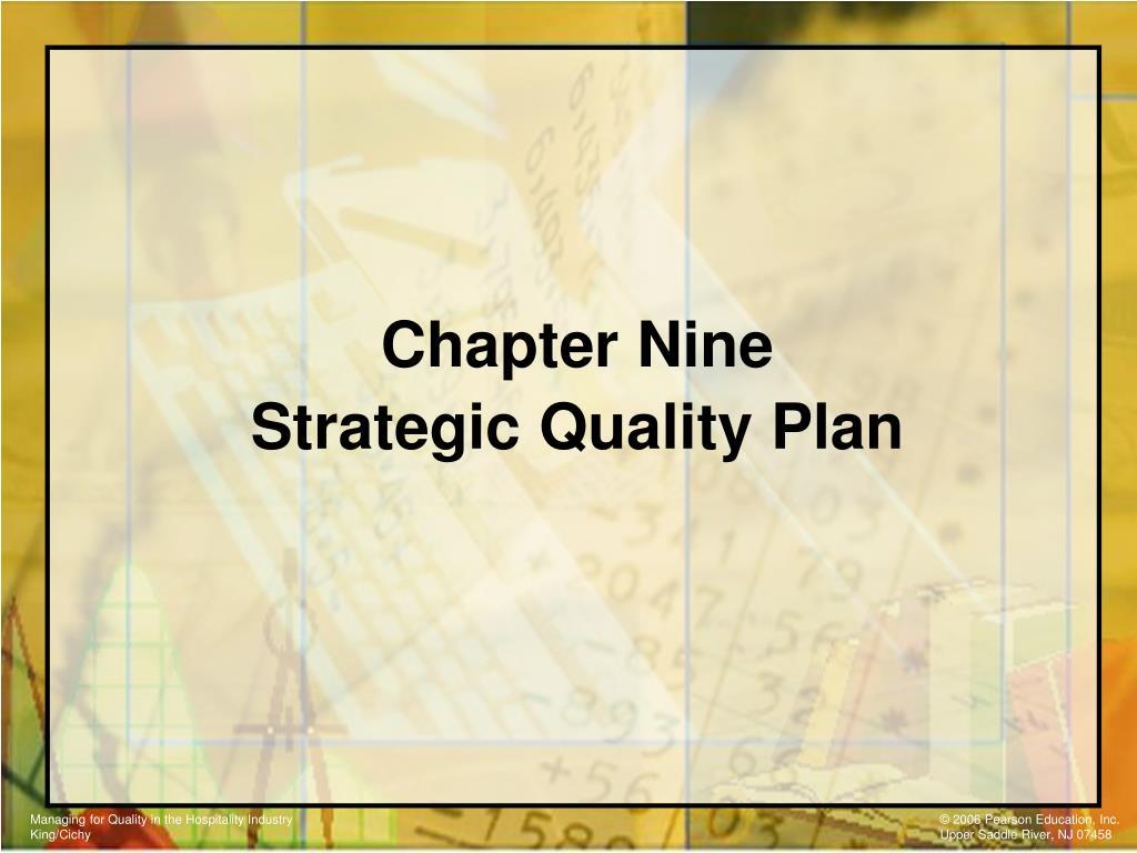 chapter nine strategic quality plan l.