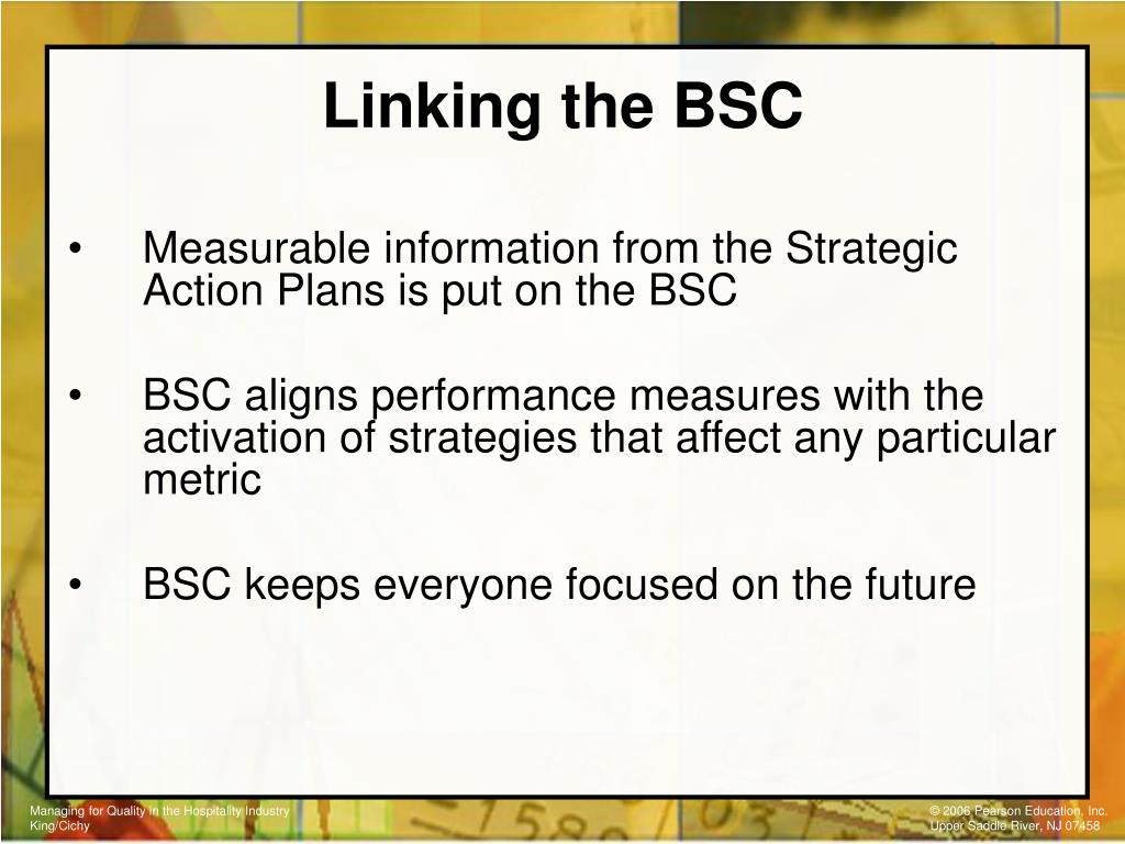 Linking the BSC