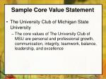 sample core value statement22