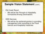 sample vision statement cont