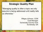 strategic quality plan