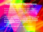 remorse and repentance