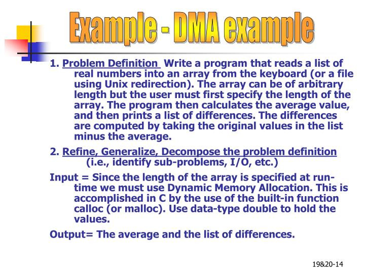 Example - DMA example