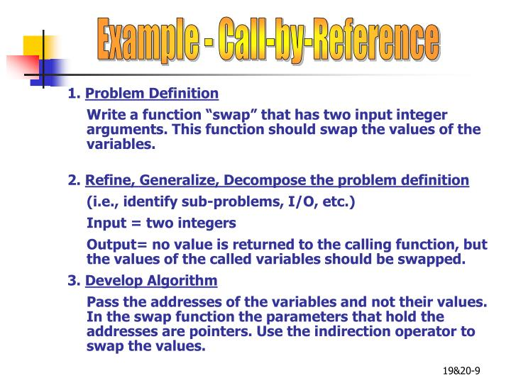 Example - Call-by-Reference