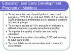 education and early development program of moldova