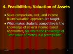 4 feasibilities valuation of assets