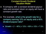 constant growth dividend valuation model