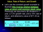 value rate of return and growth27