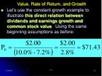 value rate of return and growth30