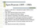 egon pearson 1895 1980