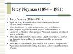 jerzy neyman 1894 1981