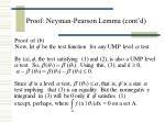 proof neyman pearson lemma cont d19