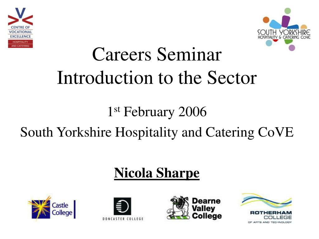 careers seminar introduction to the sector l.