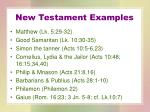 new testament examples