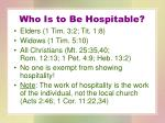 who is to be hospitable