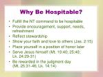 why be hospitable