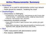 active measurements summary48