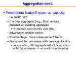 aggregation cont
