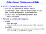 collection of measurement data