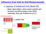 inference from end to end measurements
