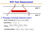 ntp peer measurement