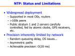 ntp status and limitations