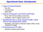 operational uses intradomain
