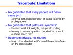 traceroute limitations
