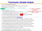 traceroute sample output