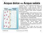acqua dolce vs acqua salata