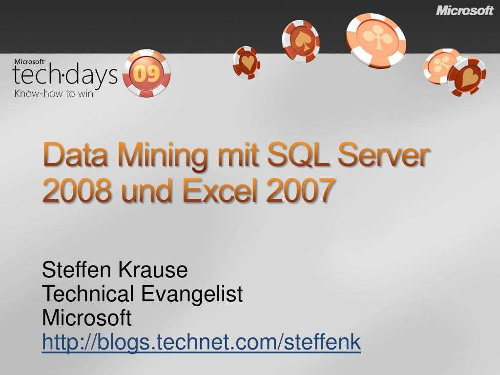 data mining mit sql server 2008 und excel 2007 l.