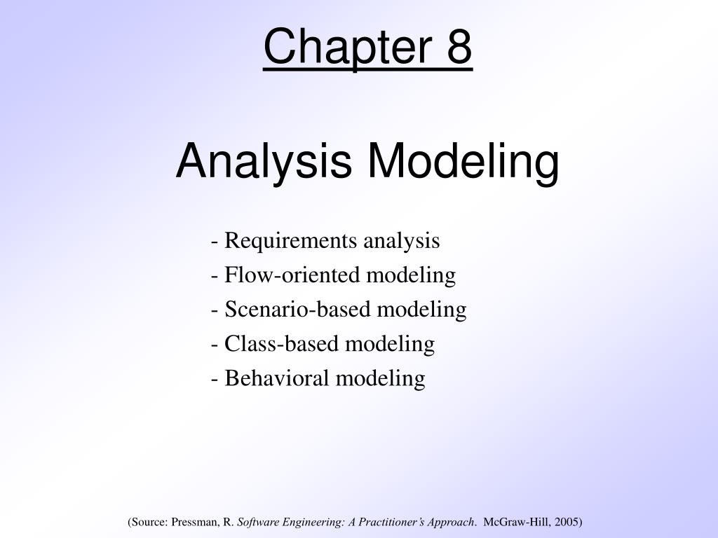 chapter 8 analysis modeling l.