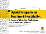 hybrid programs in tourism hospitality