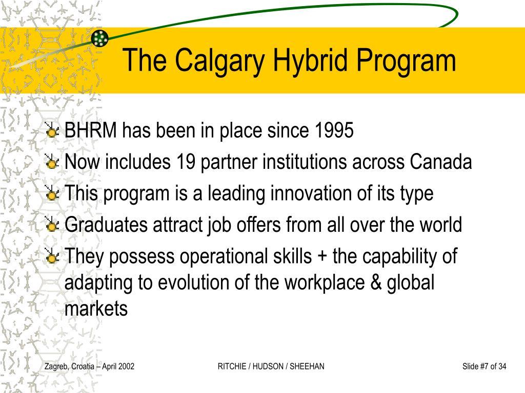 The Calgary Hybrid Program